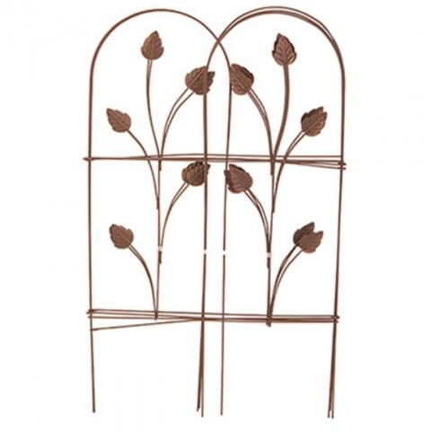 """PanaceaA¢ 89363 Folding Garden Fence, Cameo Brown, 32"""" x 8'"""
