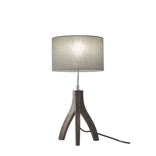 "Adesso 3837 Sherwood 1 Light 63"" Tall Tripod Table Lamp with Fabric Shade"