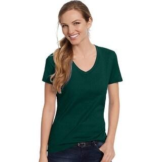 Hanes Women's Nano-T® V-Neck T-Shirt - Size - 2XL - Color - Deep Forest