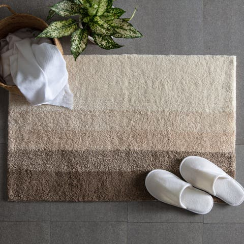 Avebury Stripe Cotton Bath Mat