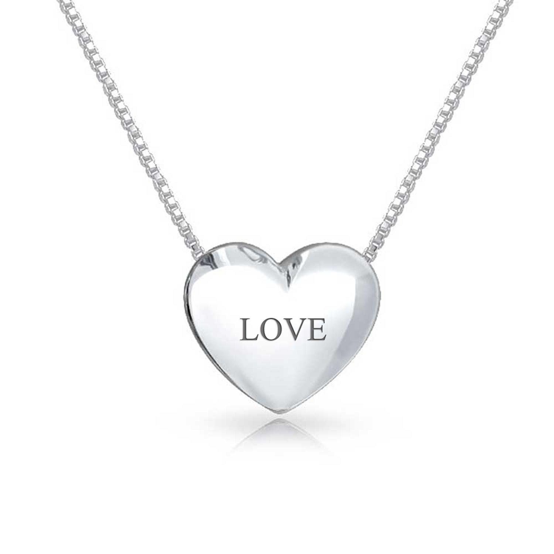 Sterling Silver Double Heart Chain Slide