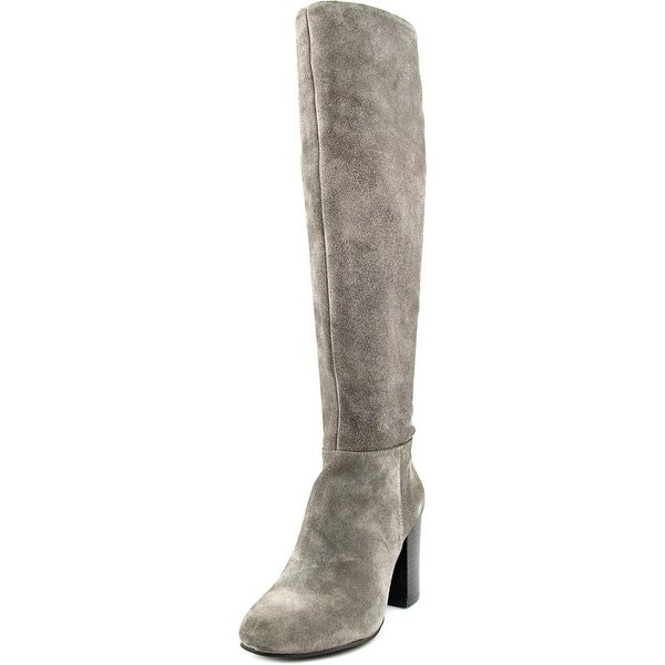 Vince Camuto Sabana Women Round Toe Suede Gray Knee High Boot