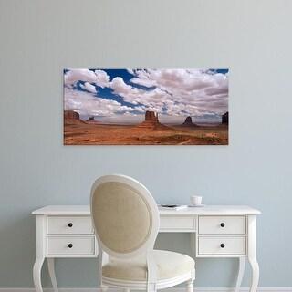 Easy Art Prints Panoramic Images's 'Monument Valley Tribal Park AZ' Premium Canvas Art