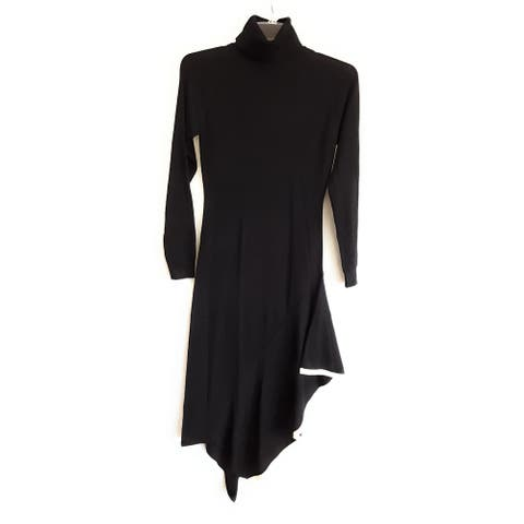 Kendall Kylie Turtle Neck Dress, Navy, Small
