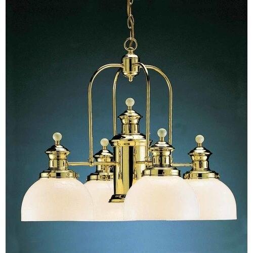 Volume Lighting V4915 Aberdeen 5 Light 1 Tier Chandelier