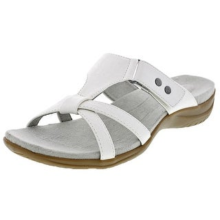 Easy Street Blaze Women WW Open Toe Synthetic White Slides Sandal