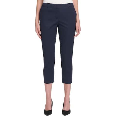 Tommy Hilfiger Womens Radcliffe Dress Pants High Rise Slim Leg