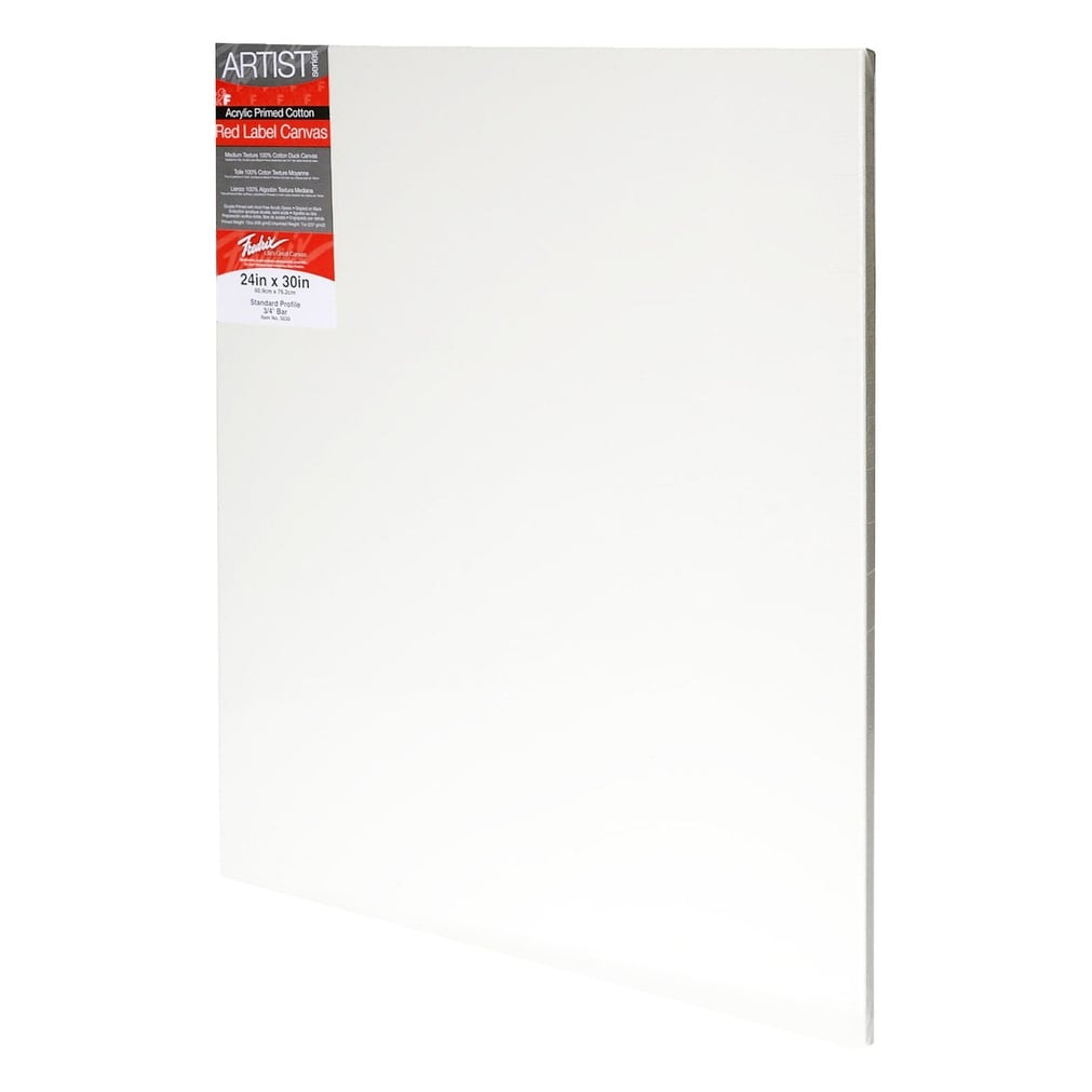 Double Acrylic Primed 12 x 16 Inches Sax Quality Stretched Canvas White