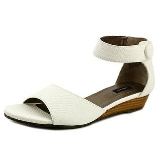 Array Havana Women W Open Toe Synthetic White Wedge Sandal