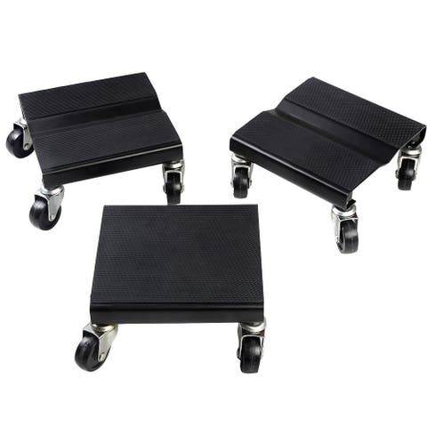 Costway 1500 LBS Snowmobile Roller Set 3 PCs Dolly Storage Dollies