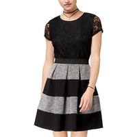 Speechless Womens Juniors Mini Dress Lace Pleated - 7