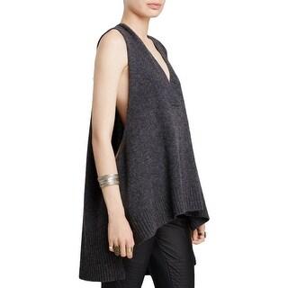 Free People Womens Sweater Vest Wool Blend Swing