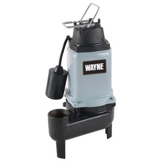 Wayne WCS50T 1/2 HP Cast Iron Submersible Sewage Pump with Automatic Switch