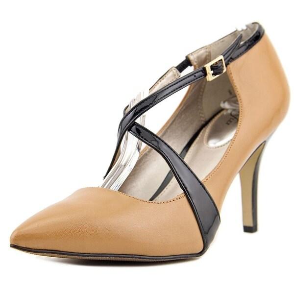 Alfani Trudiee Pointed Toe Leather Heels