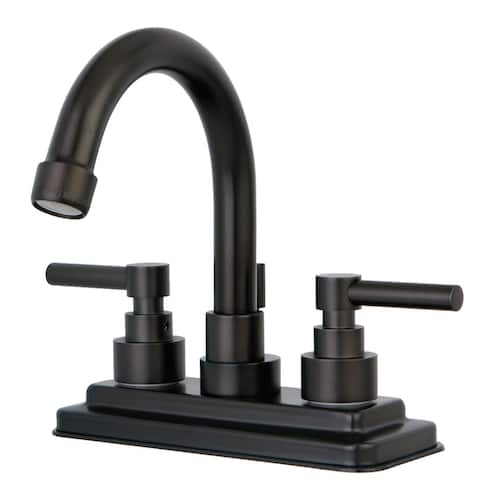 Elinvar Two-Handle 3-Hole Deck Mount 4 in. Centerset Bathroom Faucet in Oil Rubbed Bronze