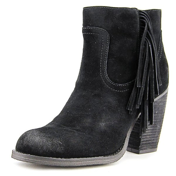Sbicca Marimba Women Round Toe Leather Black Ankle Boot