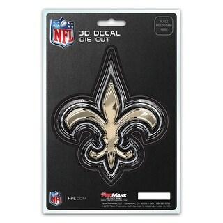 New Orleans Saints Decal 5x8 Die Cut 3D Logo Design