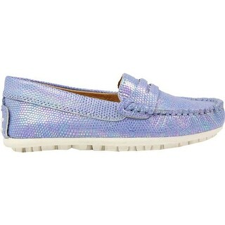 Umi Girls' Meesa Moccasin Light Blue Leather