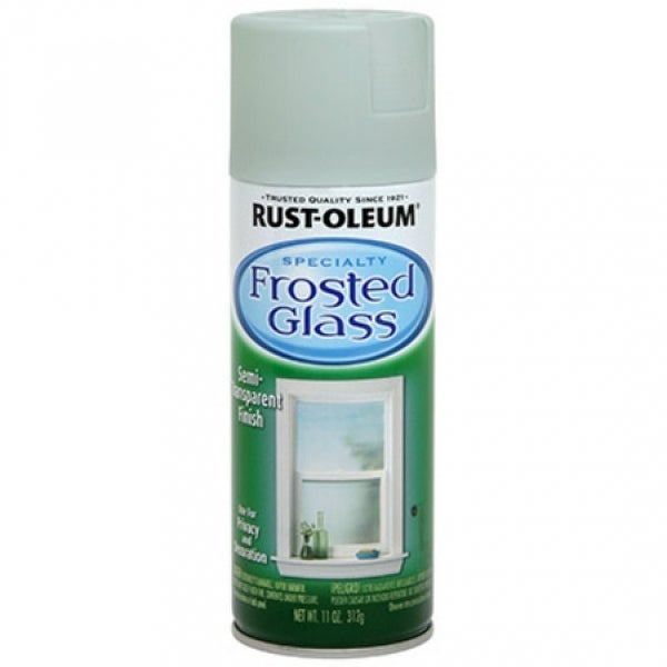 Rust-Oleum 257465 Specialty Frosted Glass Paint Spray, 11 Oz, Sea Glass