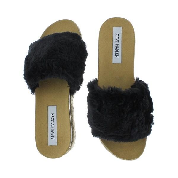 Steve Madden Womens Avid Platform Sandals Open Toe Espadrille