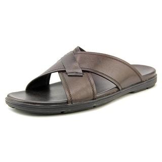 Kenneth Cole NY Lite-N-Up Men Open Toe Leather Brown Flip Flop Sandal