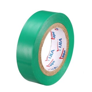 """PVC Electrical Insulating Tape Single Sided 21/32"""" Width 49ft 20mil Green - 20 mil Thick, Green"""