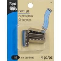 Nickel - Metal Belt Tips 4/Pkg