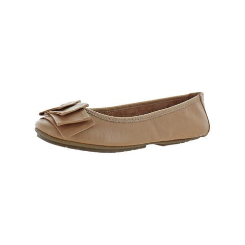 Me Too Womens Lilyana204 Ballet Flats Leather Padded Insole