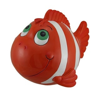 Orange and White Funny Clown Fish Coin Bank