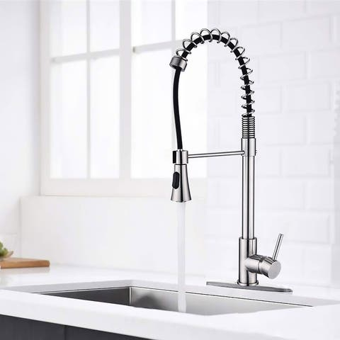 Proox Commercial Modern Single Handle Spring High Arc Kitchen Faucet