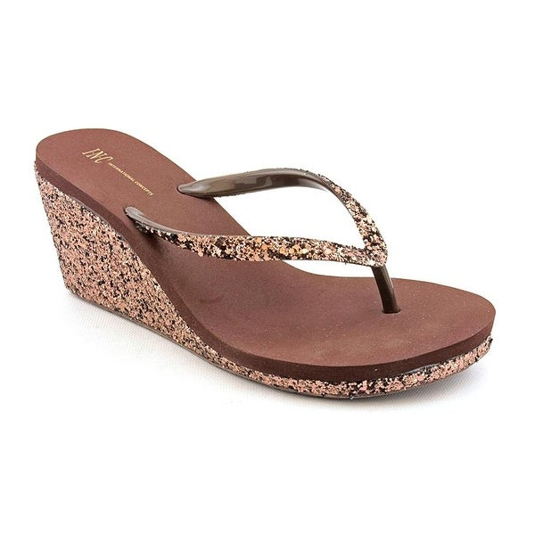 INC International Concepts Women's Olivia Thong Wedge Sandals
