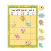 Club Pack of 60 Sweet Baby Happi Tree Baby Shower Bingo Game - YELLOW