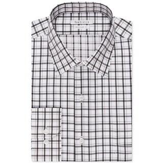 Van Heusen Mens Dress Shirt Checkered Regular Fit