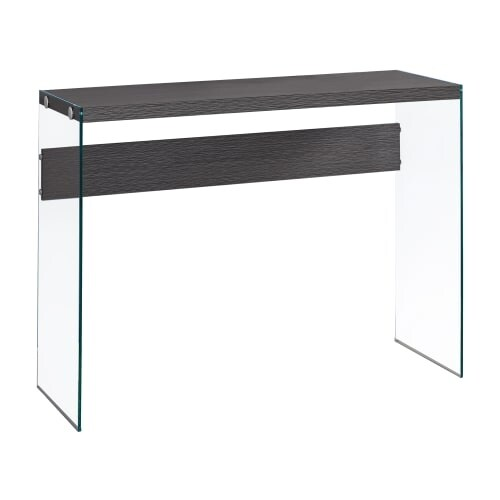 Monarch Specialties I 3222 44 Inch Wide Wood Top Gl Hall Console Table