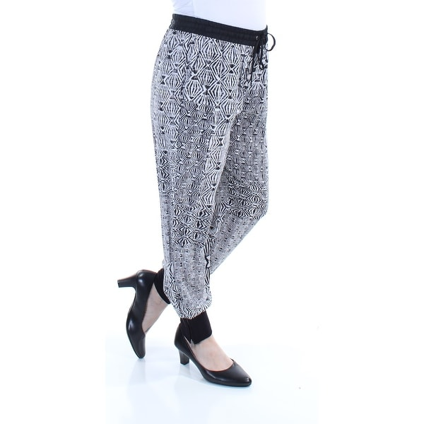 d36a054d09 Shop DKNY Womens Black Sheer Geometric Pants Size: S - Free Shipping On  Orders Over $45 - Overstock - 21300917
