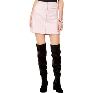 Kensie Womens Mini Skirt Embossed Zipper Front