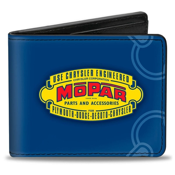 Mopar 1937 1947 Logo Use Chrysler Engineered Mopar Parts And Accessories Bi-Fold Wallet - One Size Fits most