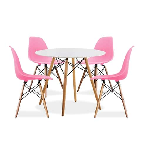 Porthos Home Galan 5-piece Dining Set, 1 Table And 4 Chairs