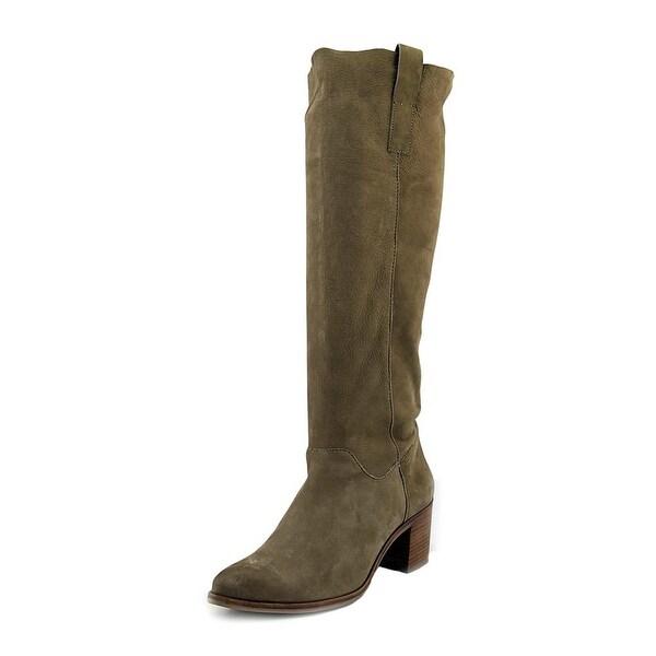 Steven Steve Madden Duval Women Pointed Toe Leather Tan Knee High Boot