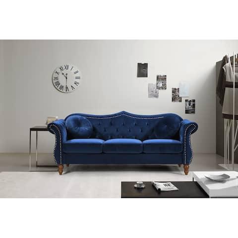 Carbon Classic Nailhead Chesterfield Sofa