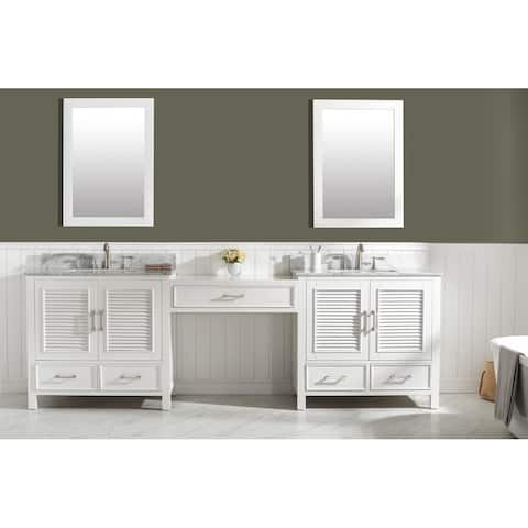 Estate White Modular Double Sink Bathroom Vanity Set