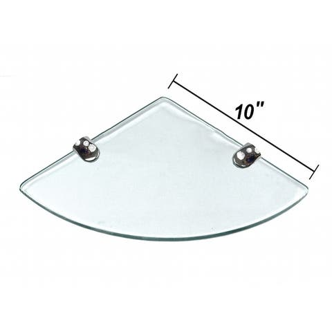 "Miseno MT-WHSSEC1010-CL 10"" Clear Glass Bathroom Shelf"