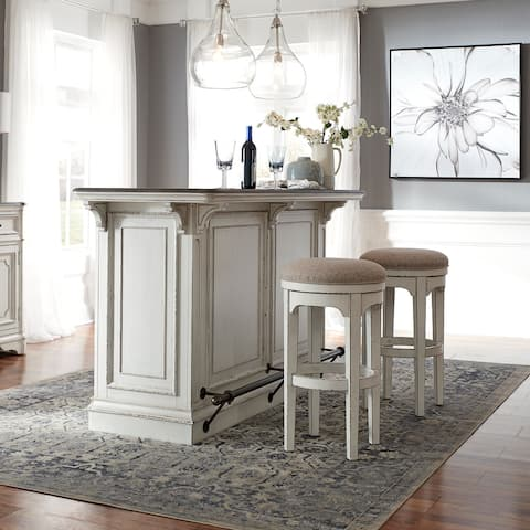 Magnolia Manor 3 pc Marble Top Bar Set