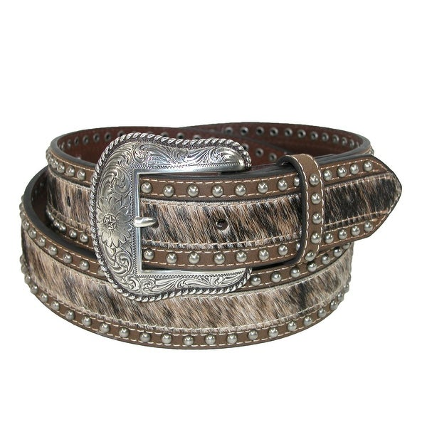 Roper Men's Hair on Calf with Smooth Leather 38mm Belt