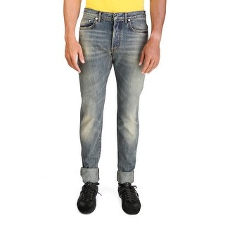 Dior Homme Men's Slim Fit Denim Jeans Pants Light Blue