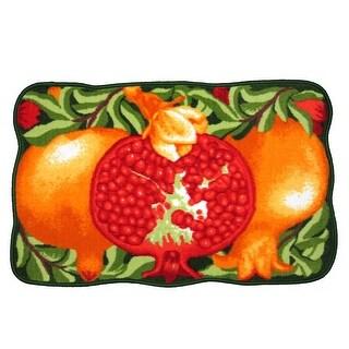 Pomegranate Printed Non-Slip Kitchen Mat, 18x30 Inches