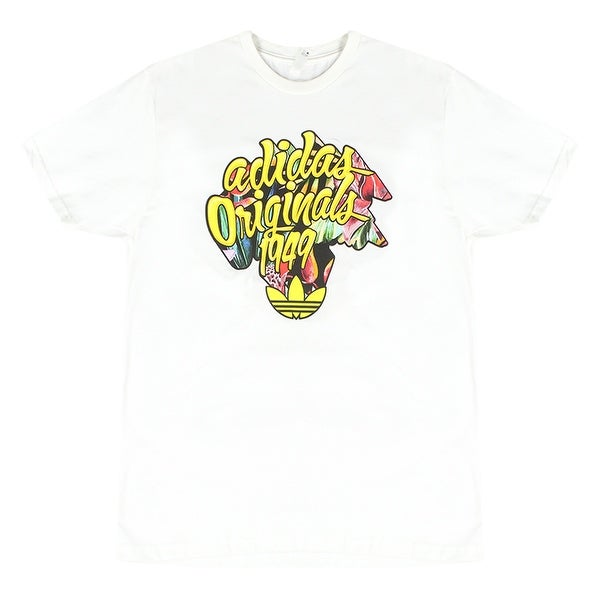 ed2fafacd3b Shop Adidas 1949 Yellow Black Originals Trefoil Logo Men s White T-Shirt  Graffiti Art - Free Shipping On Orders Over  45 - Overstock - 17065160