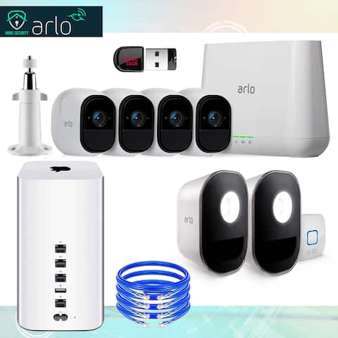 Arlo Pro Smart Security System Complete Bundle with Accessories (9 Items)