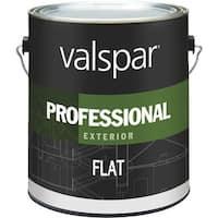 Valspar Ext Flat White Paint 045.0012600.007 Unit: GAL