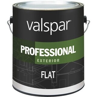 Valspar Ext Flat White Paint 045.0012600.007 Unit: GAL